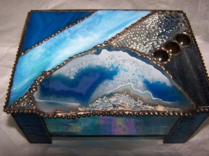 """Natural Earth"" Artglass and Brazilian Agate."